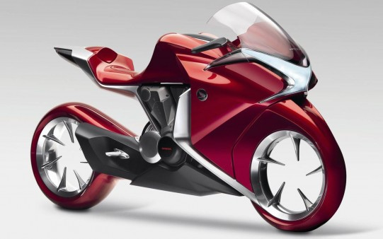 Honda V4 moto futurista