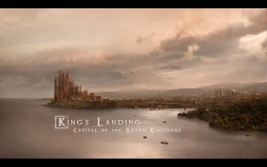 Desembarco del Rey. Fondo de Juego de Tronos.