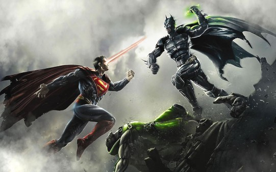 Lucha entre Superhéroes. Batman VS Superman.