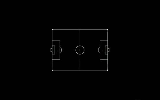 Campo de Fútbol Negro. Fondo Escritorio Deportivos.