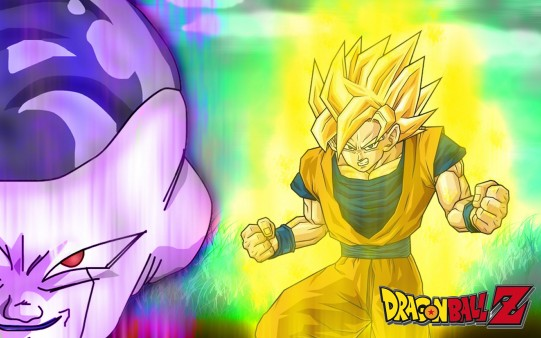 Fondo Dragon Ball. Goku y Freezer
