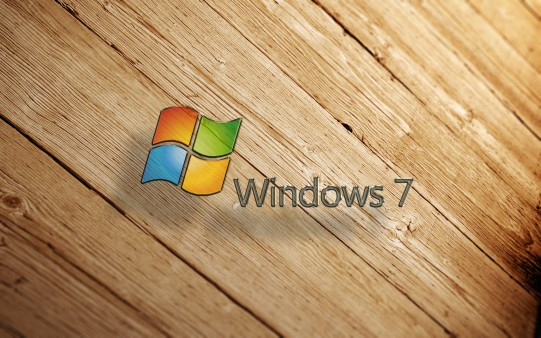 Windows 7 sobre Madera